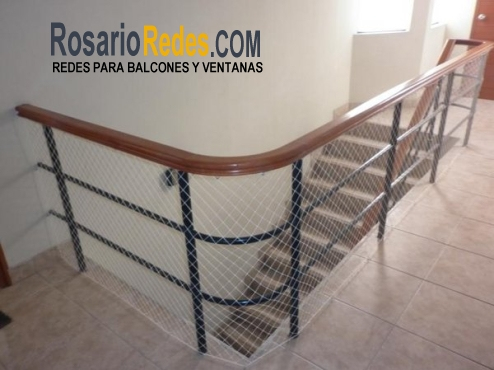 Redes para balcones rosario escaleras - Proteccion escaleras ninos ...